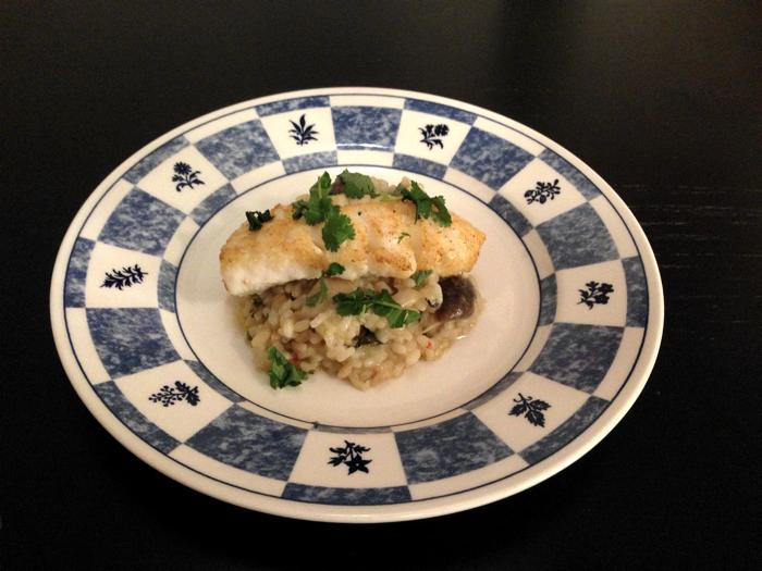 Asiatisk risotto med fisk