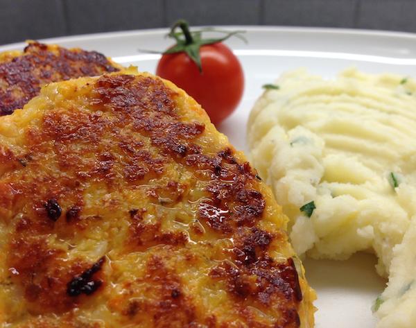 Fiskbiffar med potatismos