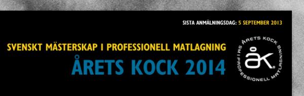 Dags att söka till årets kock 2014